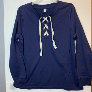 Old Navy lace up sweatshirt medium